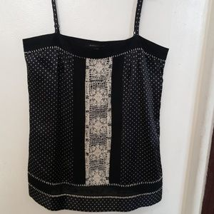 BCBG Mazazria black silk  top